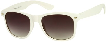 Angle of Rookie #9970 in White, Women's and Men's Retro Square Sunglasses