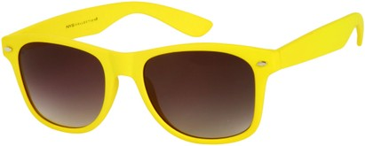Angle of Rookie #9970 in Yellow, Women's and Men's Retro Square Sunglasses