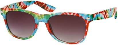 Angle of SW Retro Style #8185 in Red Lt Blue Multi, Women's and Men's