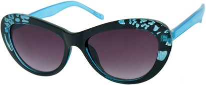 Angle of SW Cat Eye Style #84 in Blue Frame, Women's and Men's