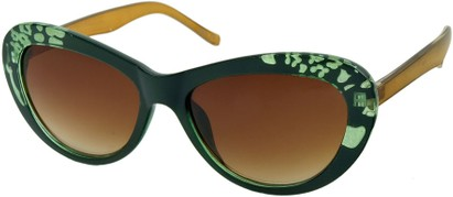 Angle of SW Cat Eye Style #84 in Green Frame, Women's and Men's