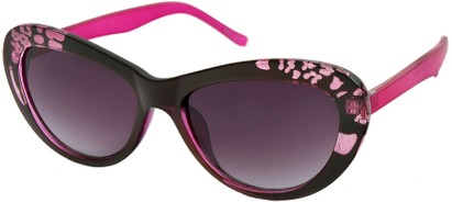 Angle of SW Cat Eye Style #84 in Pink Frame, Women's and Men's