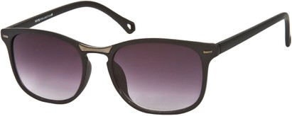 Angle of SW Retro Style #2003 in Matte Black Frame, Women's and Men's