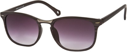 Angle of SW Retro Style #2003 in Matte Black/Grey Stripe Frame, Women's and Men's