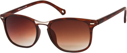 Angle of SW Retro Style #2003 in Matte Brown Tortoise Frame, Women's and Men's