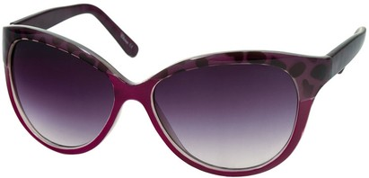Angle of Sydney #37 in Purple and Purple Leoaprd with Smoke Lenses, Women's Cat Eye Sunglasses