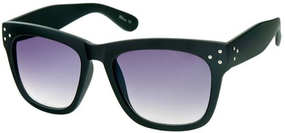Angle of SW Matte Retro Style #17 in Matte Black Frame, Women's and Men's