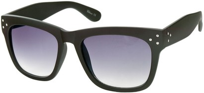 Angle of SW Matte Retro Style #17 in Matte Brown Frame, Women's and Men's