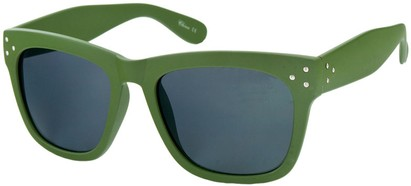 Angle of SW Matte Retro Style #17 in Matte Olive Green Frame, Women's and Men's
