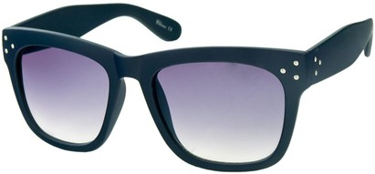 Angle of SW Matte Retro Style #17 in Matte Navy Blue Frame, Women's and Men's