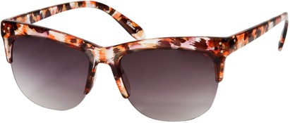 Angle of SW Animal Print Retro Style #7688 in Brown Leopard Print Frame, Women's and Men's