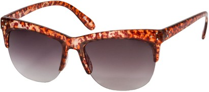 Angle of SW Animal Print Retro Style #7688 in Brown Cheetah Print Frame, Women's and Men's