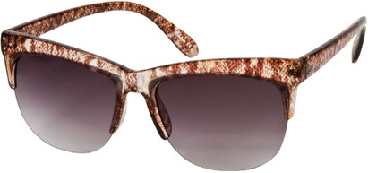 Angle of SW Animal Print Retro Style #7688 in Brown Snake Print Frame, Women's and Men's