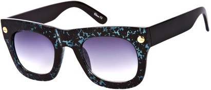 Angle of SW Retro Style #3082 in Blue/Black Speckled Frame, Women's and Men's