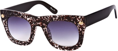 Angle of SW Retro Style #3082 in Brown/Clear Speckled Frame, Women's and Men's