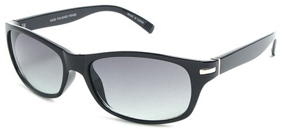 Angle of SW Retro Style #2713 in Black Frame, Women's and Men's