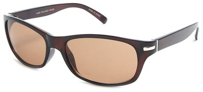 Angle of SW Retro Style #2713 in Brown Frame, Women's and Men's