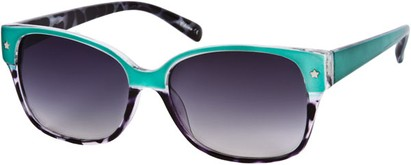 Angle of SW Two-Tone Retro Style #122 in Teal Green/Grey Tortoise Frame, Women's and Men's