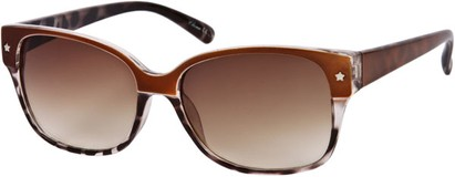 Angle of SW Two-Tone Retro Style #122 in Brown/Grey Tortoise Frame, Women's and Men's