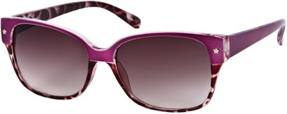 Angle of SW Two-Tone Retro Style #122 in Purple/Purple Tortoise Frame, Women's and Men's