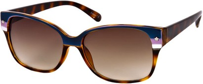 Angle of SW Two-Tone Retro Style #122 in Blue and Purple Stripe/Brown Tortoise Frame, Women's and Men's