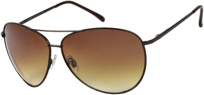 Angle of SW Mirrored Aviator Style #1905 in Bronze Frame with Amber Lenses, Women's and Men's