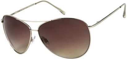 Angle of SW Mirrored Aviator Style #1905 in Silver Frame with Smoke Lenses, Women's and Men's