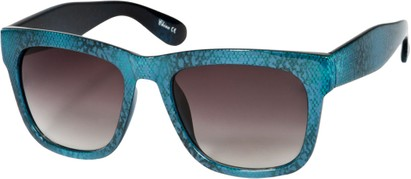 Angle of SW Lace Oversized Retro Style #1123 in Blue Lace Frame, Women's and Men's