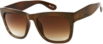 Angle of SW Lace Oversized Retro Style #1123 in Brown Lace Frame, Women's and Men's