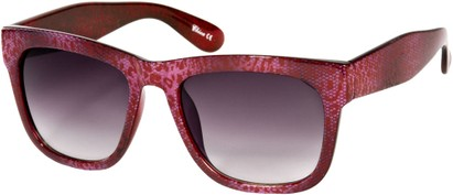 Angle of SW Lace Oversized Retro Style #1123 in Magenta Pink Lace Frame, Women's and Men's