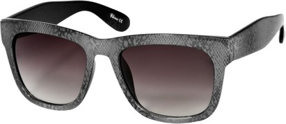 Angle of SW Lace Oversized Retro Style #1123 in Grey Lace Frame, Women's and Men's