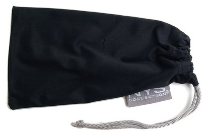 Angle of SW Solid Colored Glasses Pouch Style #250 in Black, Women's and Men's