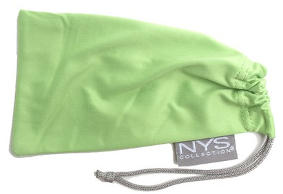 Angle of SW Solid Colored Glasses Pouch Style #250 in Green, Women's and Men's