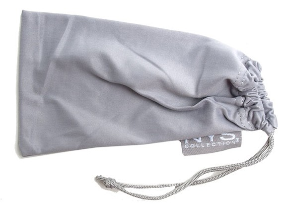 Angle of SW Solid Colored Glasses Pouch Style #250 in Grey, Women's and Men's