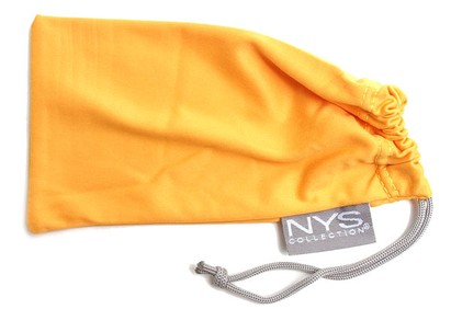 Angle of SW Solid Colored Glasses Pouch Style #250 in Orange, Women's and Men's