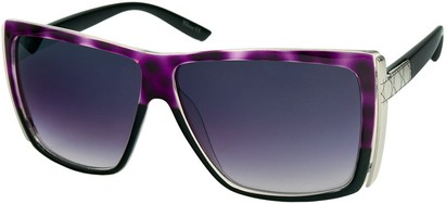 Angle of SW Rock Star Style #123 in Purple Tortoise and Black, Women's and Men's