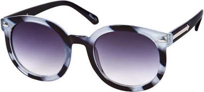 Angle of SW Oversized Retro Style #111 in Grey Tortoise Frame, Women's and Men's