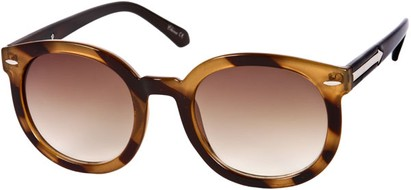 Angle of SW Oversized Retro Style #111 in Brown Tortoise Frame, Women's and Men's
