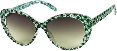 Angle of SW Cat Eye Style #158 in Emerald Green, Women's and Men's