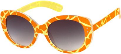 Orange Giraffe Print Sunglasses