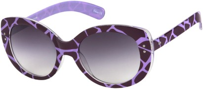 Purple Giraffe Print Sunglasses