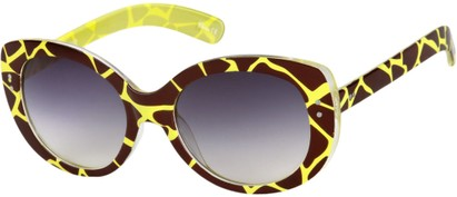 Black Giraffe Print Sunglasses