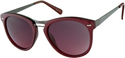 Angle of Aurora #1134 in Pink and Red, Women's and Men's Round Sunglasses