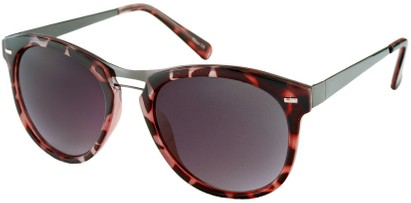 Angle of Aurora #1134 in Pink Tortoise, Women's and Men's Round Sunglasses