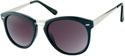 Angle of Aurora #1134 in Blue Stripe, Women's and Men's Round Sunglasses