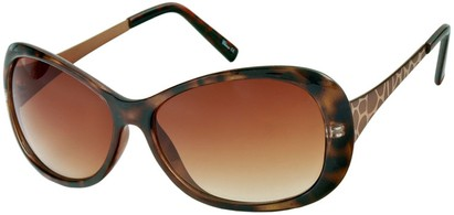 Angle of Ember #450 in Brown Tortoise Frame, Women's Round Sunglasses
