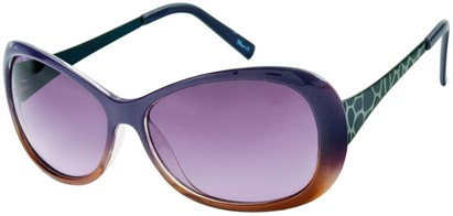 Angle of Ember #450 in Purple and Brown Frame, Women's Round Sunglasses