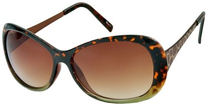 Angle of Ember #450 in Brown Tortoise and Green Frame, Women's Round Sunglasses