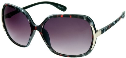 Angle of Somerset #206 in Grey and Pink Tortoise, Women's Round Sunglasses