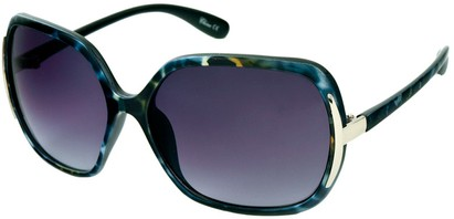 Angle of Somerset #206 in Blue and Green Tortoise, Women's Round Sunglasses